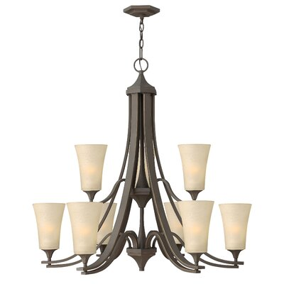 Brantley 9-Light Shaded Chandelier Finish: Oil Rubbed Bronze