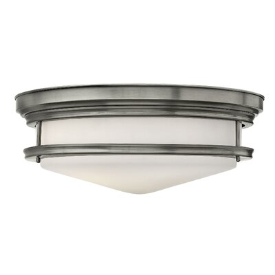 Hadley 4-Light Foyer Flush Mount Finish: Antique Nickel, Bulb Type: Incandescent