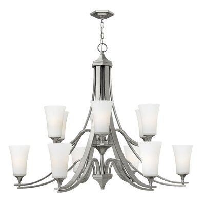 Brantley 12-Light Shaded Chandelier