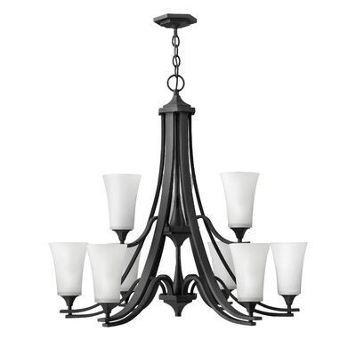 Brantley 12-Light Shaded Chandelier Finish: Textured Black