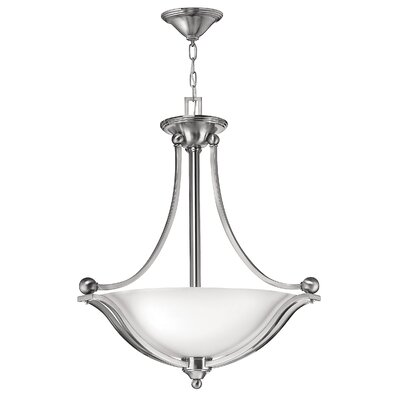 Bolla 3-Light Bowl Pendant Finish: Olde Bronze, Bulb Type: MED, Shade Color: Etched Opal Glass
