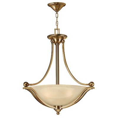 Bolla 3-Light Bowl Pendant Finish: Brushed Bronze