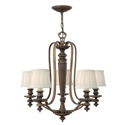 Dunhill 5-Light Shaded Chandelier