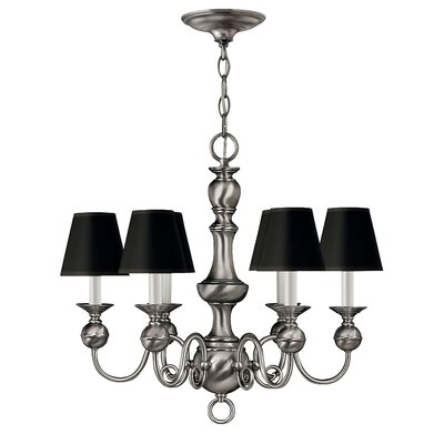 Ardmore 6-Light Candle-Style Chandelier Color: Pewter