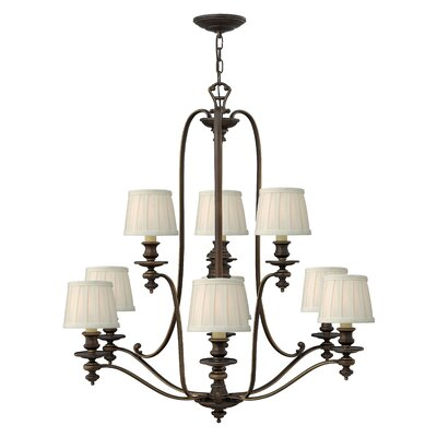 Dunhill 9-Light Shaded Chandelier