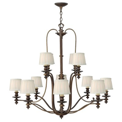 Dunhill 12-Light Shaded Chandelier