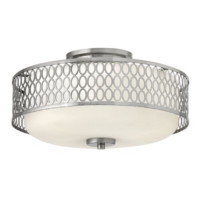 Jules 3-Light Flush Mount Fixture Finish: Brushed Nickel, Bulb type: Fluorescent/Halogen/LED