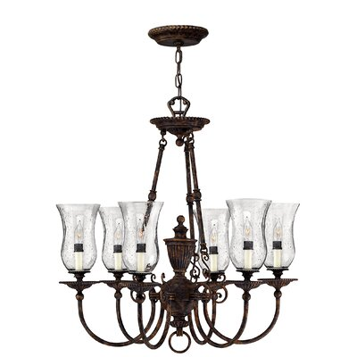 Claypoole 6-Light Candle-Style Chandelier