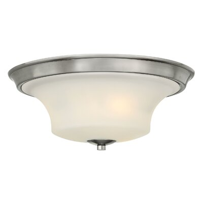 Brantley 3-Light Flush Mount Finish: Brushed Nickel, Bulb Type: FSI