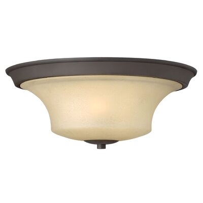 Lurganville 3-Light LED Flush Mount Finish: Oil Rubbed Bronze, Bulb Type: MED