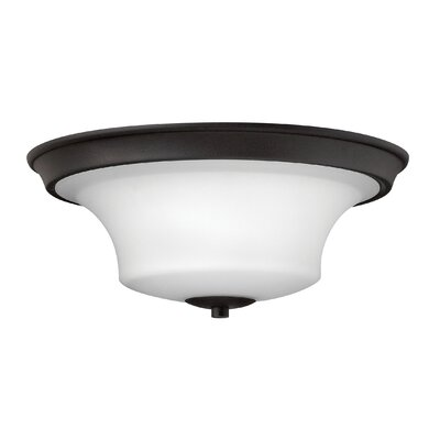 Lurganville 3-Light LED Flush Mount Finish: Textured Black, Bulb Type: FSI