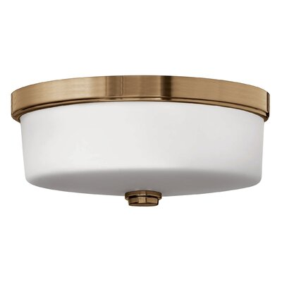 3-Light Flush Mount Fixture Finish: Brushed Bronze, Bulb type: LED