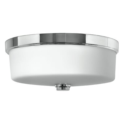 3-Light Flush Mount Fixture Finish: Chrome, Bulb type: Halogen