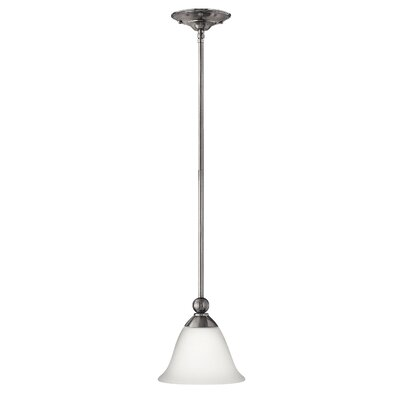 Bolla 1-Light Mini Pendant Finish: Brushed Nickel, Bulb Type: 26W GU24