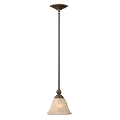 Bolla 1-Light Mini Pendant Finish: Olde Bronze, Bulb Type: FSI