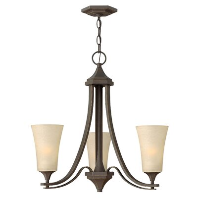 Lurganville 3-Light Candle-Style Chandelier Finish: Oil Rubbed Bronze