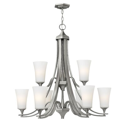Brantley 9-Light Shaded Chandelier