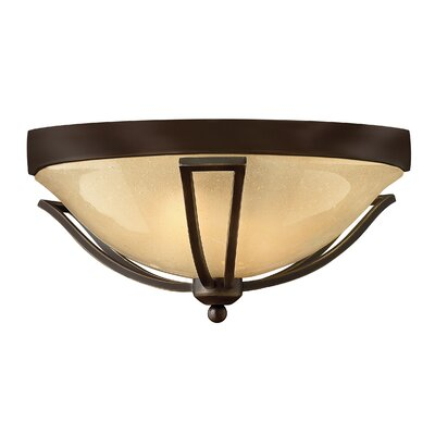Bolla 1-Light Flush Mount Finish: Olde Bronze, Bulb Type: Incandescent