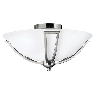 Bolla 2-Light Flush Mount Finish: Brushed Nickel