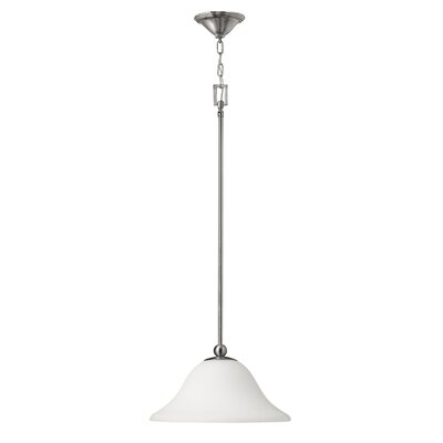 Bolla 1-Light Mini Pendant Bulb Type: 15W LED, Finish: Brushed Nickel
