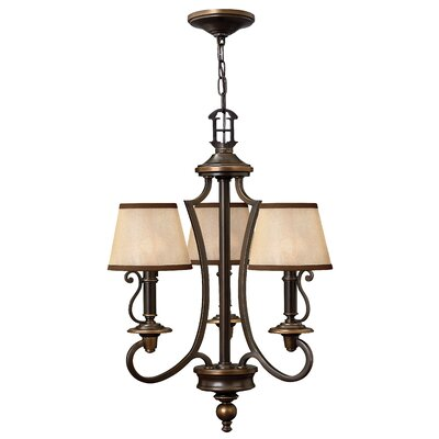Plymouth 3-Light Shaded Chandelier