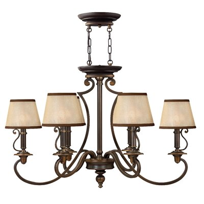 Plymouth 6-Light Shaded Chandelier