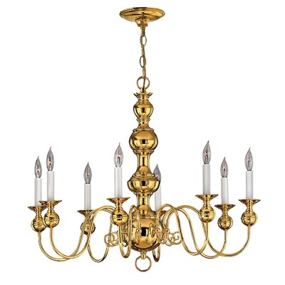 Korte 8-Light Candle-Style Chandelier Color: Polished Brass