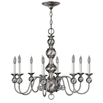 Korte 8-Light Candle-Style Chandelier Color: Pewter