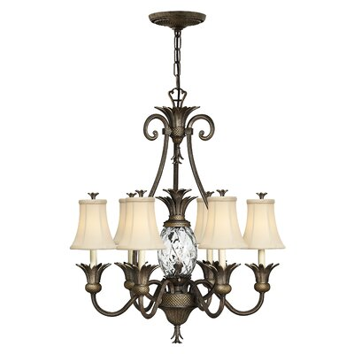 Plantation 7-Light Candle-Style Chandelier Finish: Pearl Bronze