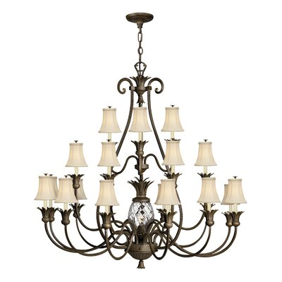 Plantation 21-Light Candle-Style Chandelier Finish: Pearl Bronze