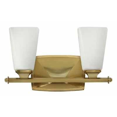 Darby 2-Light Vanity Light Finish: Brushed Caramel