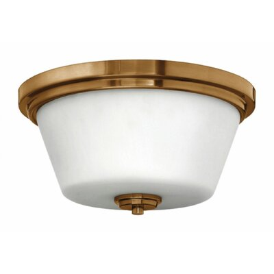 Hollifield Bath 2-Light Flush Mount Fixture Finish: Chrome, Bulb Type: Fluorescent