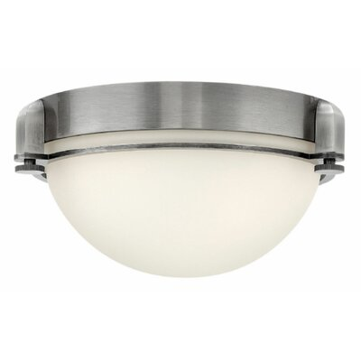Logan 2-Light Flush Mount Finish: Antique Nickel