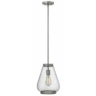 Finley 1-Light Mini Pendant Finish: Brushed Nickel
