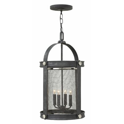 Holden 4-Light Foyer Pendant Finish: Aged Zinc