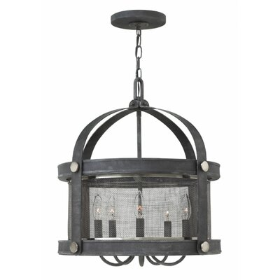 Holden 5-Light Foyer Pendant Finish: Aged Zinc