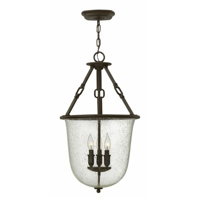 Brockington 3-Light Foyer Pendant Finish: Oil Rubbed Bronze