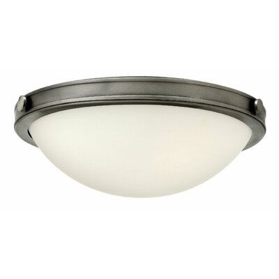 Maxwell 2-Light Flush Mount Finish: Antique Nickel, Bulb Type: Incandescent