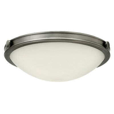 Maxwell 3-Light Flush Mount Finish: Antique Nickel, Bulb Type: LED