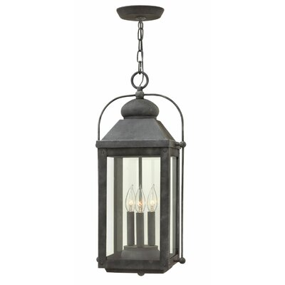 Anchorage 3-Light Outdoor Hanging Lantern Finish: Aged Zinc