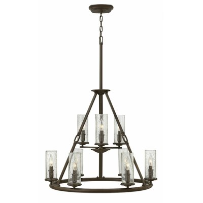 Dakota 9-Light Candle-Style Chandelier Finish: Polished Antique Nickel