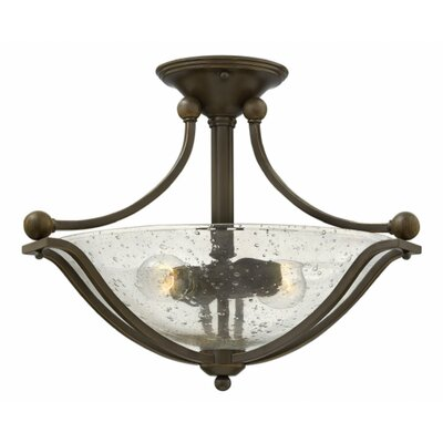 Bolla 2-Light Semi Flush Mount