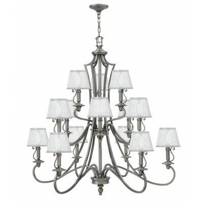 Kenny 15-Light Candle-Style Chandelier Finish: Polished Antique Nickel