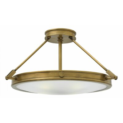 Driden 4-Light Semi Flush Mount Finish: Light Oiled Bronze, Bulb Type: LED