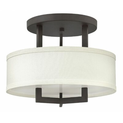 Hampton 1-Light LED Semi Flush Mount Size: 14.5 H x 26 W