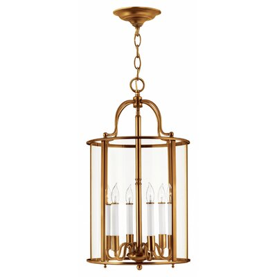 Robles 6-Light Foyer Pendant Finish: Heirloom Brass