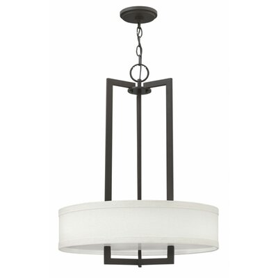 Hampton 1-Light LED Drum Pendant Size: 26.5 H x 20 W x 20 D