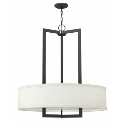 Hampton 3-Light Drum Pendant Finish: Buckeye Bronze, Bulb Type: 100W Medium