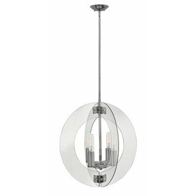 Carlock 4-Light Globe Pendant Finish: Polished Chrome
