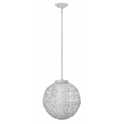Spago 1-Light Globe Pendant Finish: Titanium